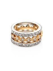 Abs By Allen Schwartz Rebel Soul Pave Ring Set Gold Silver