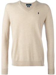 Polo Ralph Lauren V Neck Pullover Nude And Neutrals