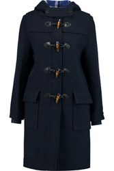 Marc By Marc Jacobs Paddington Wool Blend Duffle Coat Midnight Blue
