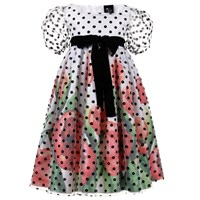 Love Made Love Poppies Dress With Polka Dot Tulle White