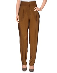 Les Prairies De Paris Casual Pants Camel