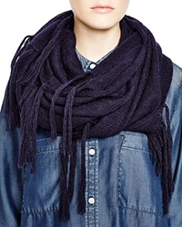 Dkny Pure Fringe Infinity Scarf Ink