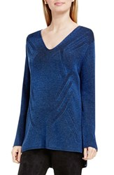 Vince Camuto Women's Two By 'Traveling Stitch' V Neck Tunic
