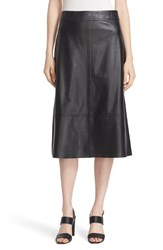 Kate Spade Women's New York Lambskin Leather A Line Skirt