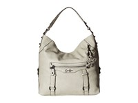Jessica Simpson Carlyn Hobo Cloud Grey Hobo Handbags Multi