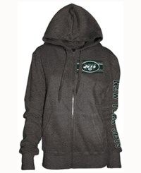 5Th And Ocean Women's New York Jets Backfield Le Hoodie Charcoal