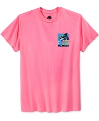Maui And Sons Men's Graphic Print T Shirt Pink