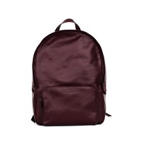 Xenab Lone Oxblood Calfskin Leather Backpack Red
