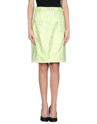 Darling Knee Length Skirts Light Green