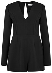 Finders Keepers Round Up Black Open Back Playsuit