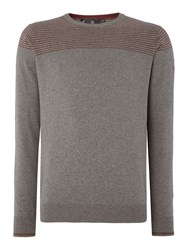 Duck And Cover Ramirez 2 Crew Neck Knitwear Grey Marl