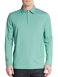 Saks Fifth Avenue Performance Oxford Polo Kelly Green