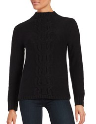 Lord And Taylor Cable Knit Sweater Black