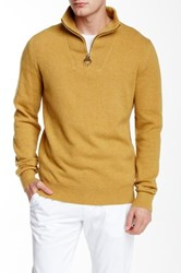 Barbour Richardson Half Zip Sweater Yellow