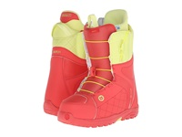 Burton Mint Coral Yellow Women's Snow Shoes Red