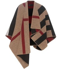 Burberry Mega Check Wool And Cashmere Cape Multicoloured
