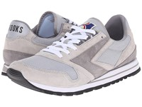 Brooks Heritage Chariot Athletic Grey White Men's Running Shoes Gray