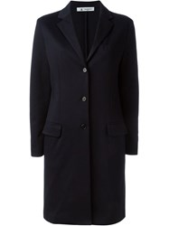 Barena Classic Single Breasted Coat Blue