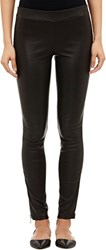 Vince. Lambskin Side Zip Leggings Colorless