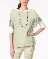 American Living Boat Neck Fringe Sweater Only At Macy's