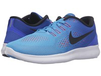 Nike Free Rn Blue Glow Black Racer Blue Bright Crimson Women's Running Shoes