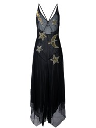 Amen Embellished Star Dress Black
