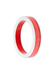 Giorgio Armani Signature Wide Bangle Red