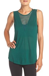 Alo Yoga Women's 'Warm Up' Mesh Neck Tank Evermint