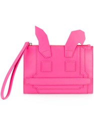 Mcq By Alexander Mcqueen 'Electro Bunny' Clutch Pink And Purple