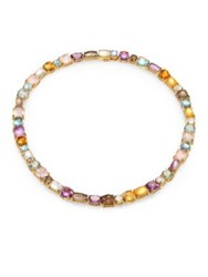 Roberto Coin Semi Precious Multi Stone And 18K Yellow Gold Necklace Yellow Gold Multicolor