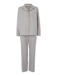 Dickins And Jones Silver Spot Pj Set Silver