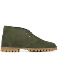 Car Shoe Lace Up Boots Green