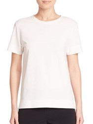 Dkny Stretch Cotton Short Sleeve Tee White