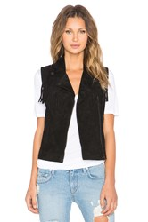 Sanctuary Suede It Vest Black