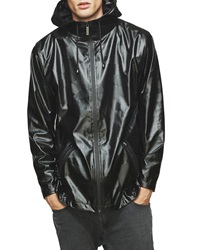 Rains Water Resistant Windcheater With Black Ripple Hood