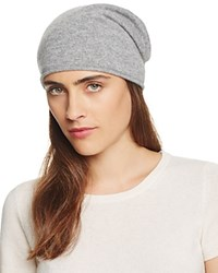 Bloomingdale's C By Bloomingdales Cashmere Angelina Slouch Hat Pale Gray