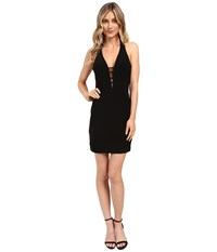 Faviana Jersey V Neck W Strap Detail 7854 Black Women's Dress