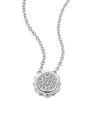 Bolt Swarovski Crystal And Stainless Steel Pendant Necklace Silver
