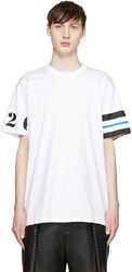 Givenchy White Numbers And Stripes T Shirt