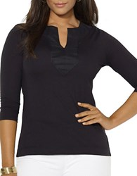 Lauren Ralph Lauren Plus Cotton Tunic Black