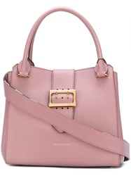 Burberry Buckle Detail Tote Bag Pink And Purple