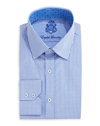 English Laundry Long Sleeve Woven Plaid Dress Shirt Blue