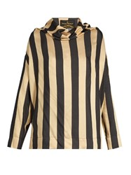 Vivienne Westwood Long Sleeved Silk Crepe Blouse Black Multi