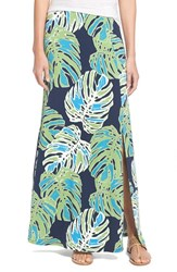 Women's Tommy Bahama 'Pop Art Palms' Print Jersey Maxi Skirt Tropical Jungle