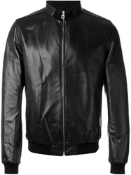 Salvatore Ferragamo Funnel Neck Jacket Black
