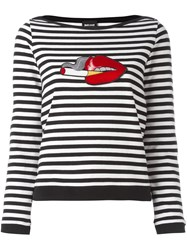 Just Cavalli 'Lips' Patch Longsleeved T Shirt Black