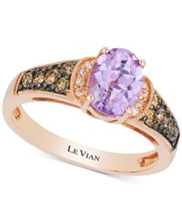Le Vian Chocolatier Amethyst 1 Ct. T.W. And Diamond 1 4 Ct. T.W. In 14K Rose Gold