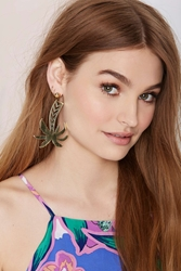 Nasty Gal Vera Xane Paradise City Palm Tree Earrings