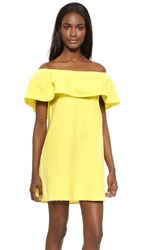 Cupcakes And Cashmere Lulu Off Shoulder Ruffle Dress Mellow Yellow
