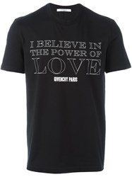 Givenchy Power Of Love Short Sleeve T Shirt Black